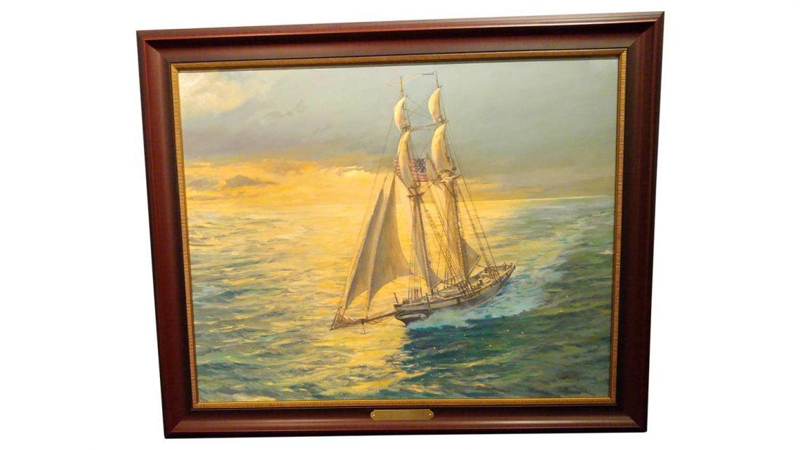 "Baltimore Clipper (24"" x 30"") - Framed 1"