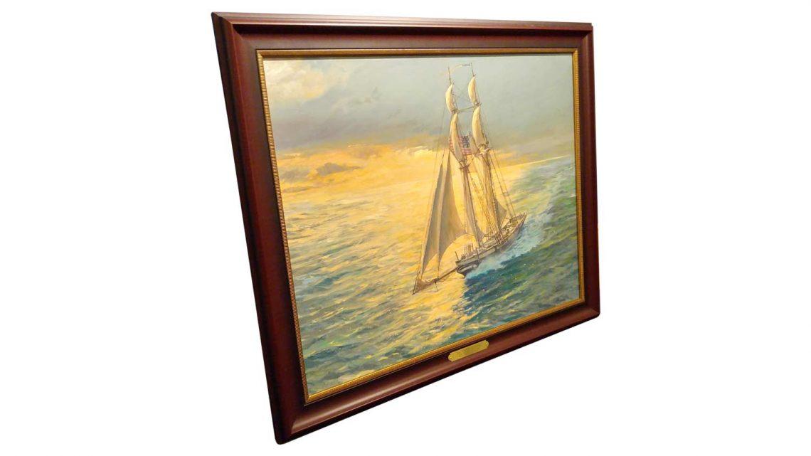 "Baltimore Clipper (24"" x 30"") - Framed 2"