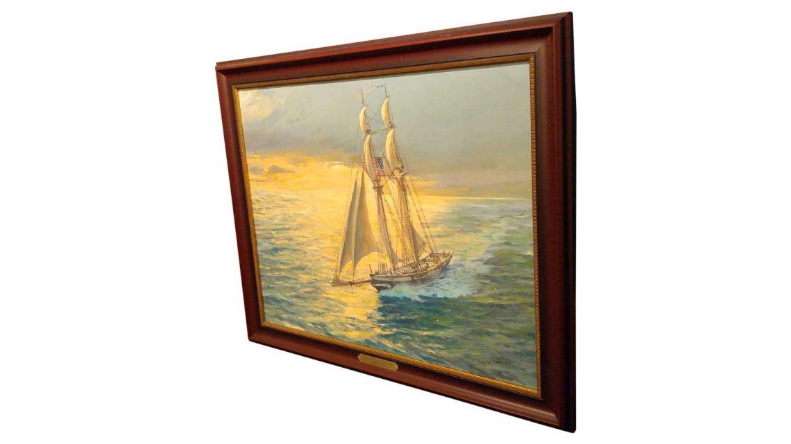 "Baltimore Clipper (24"" x 30"") - Framed 3"