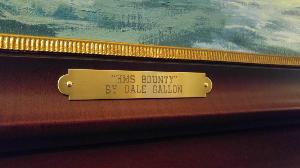 HMS Bounty - Name Plate