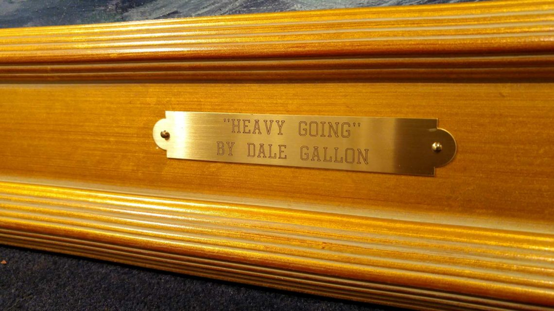 Heavy Going - Name Plate