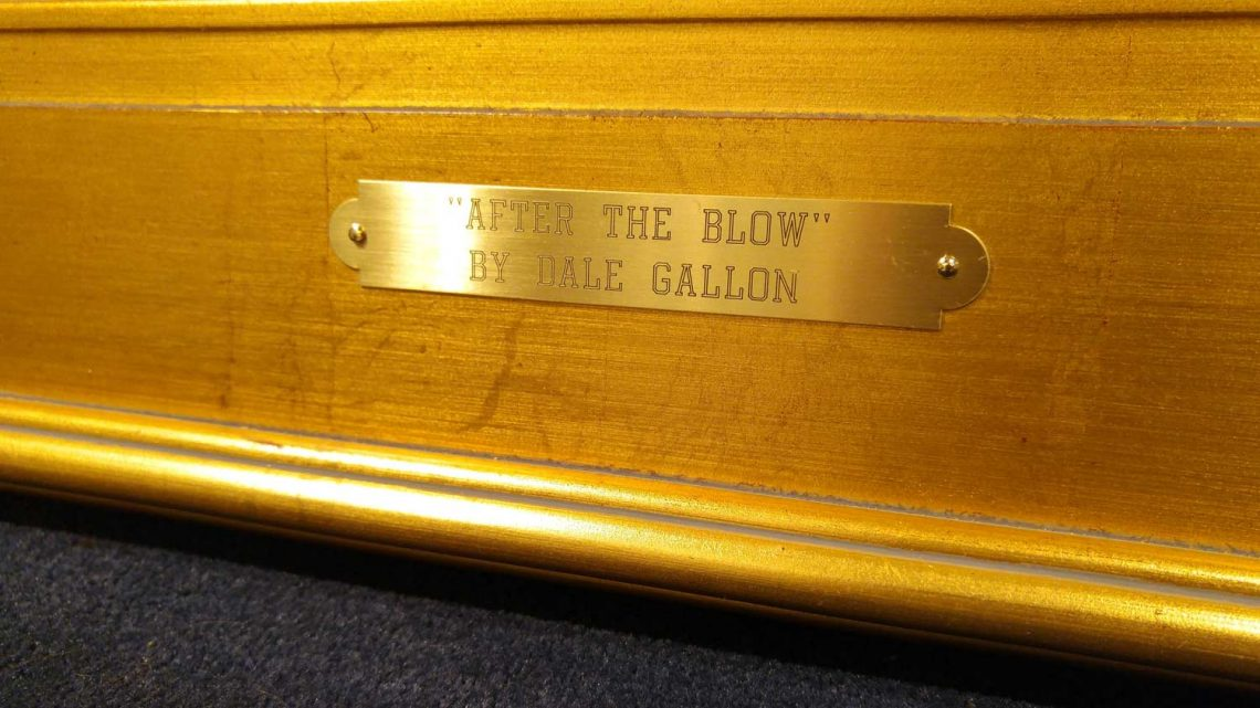 After The Blow - Name Plate