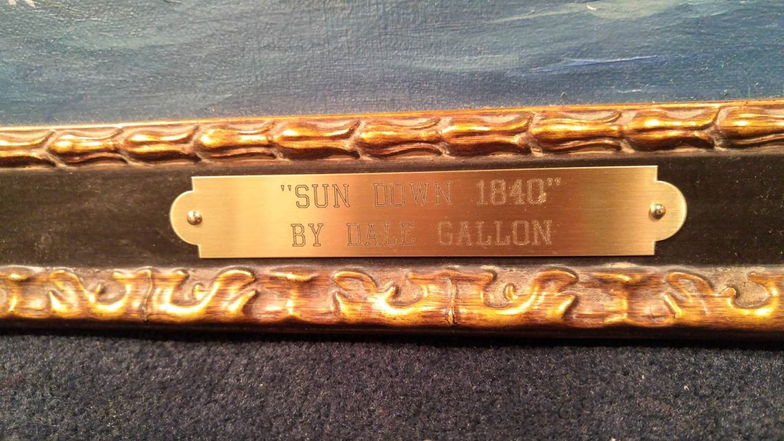 Sundown 1840 Name Plate