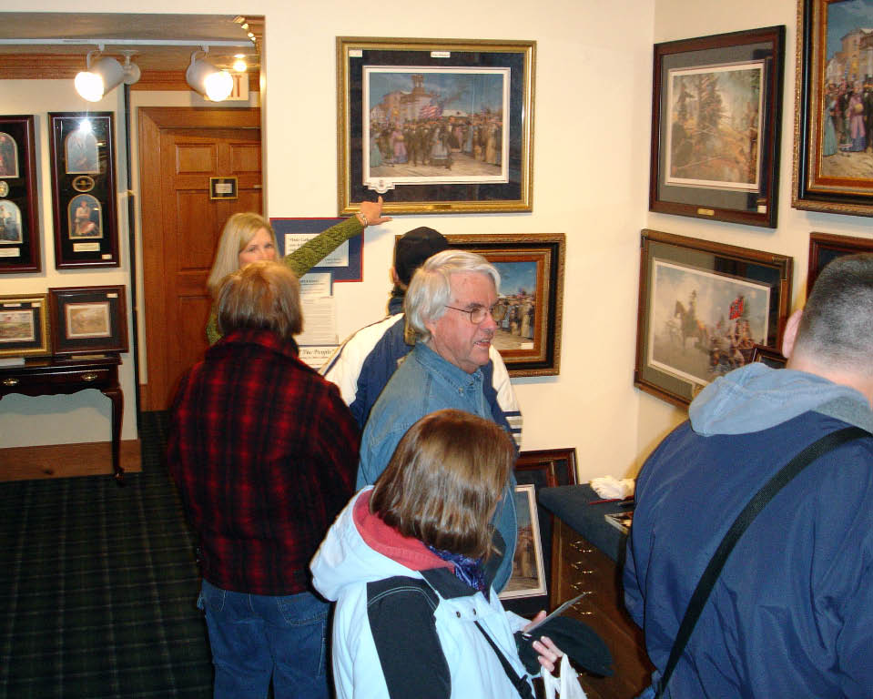 Busy in the Gallery