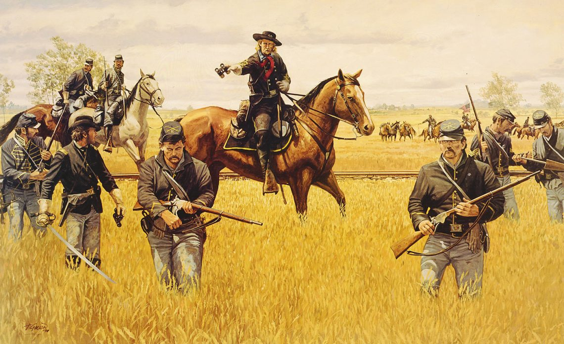 Custer at Hanover - Limited Edition Print