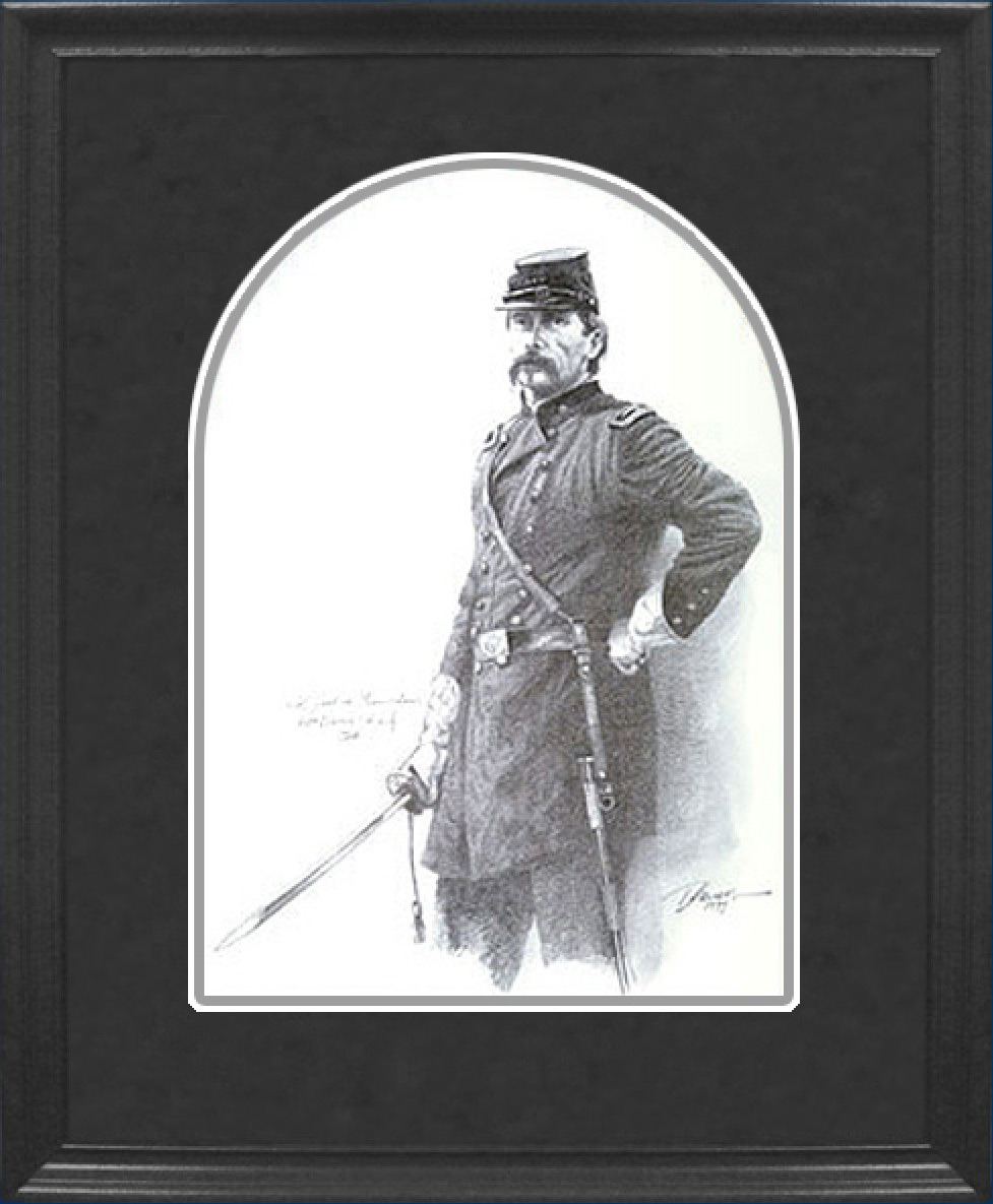 Framed Chamberlain Pencil Sketch