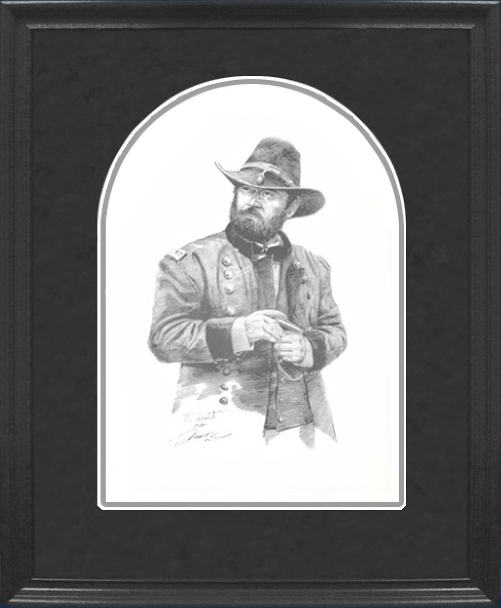 Framed Grand Pencil Sketch