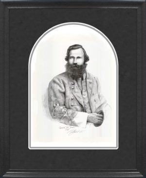 Framed JEB Stuart Pencil Sketch