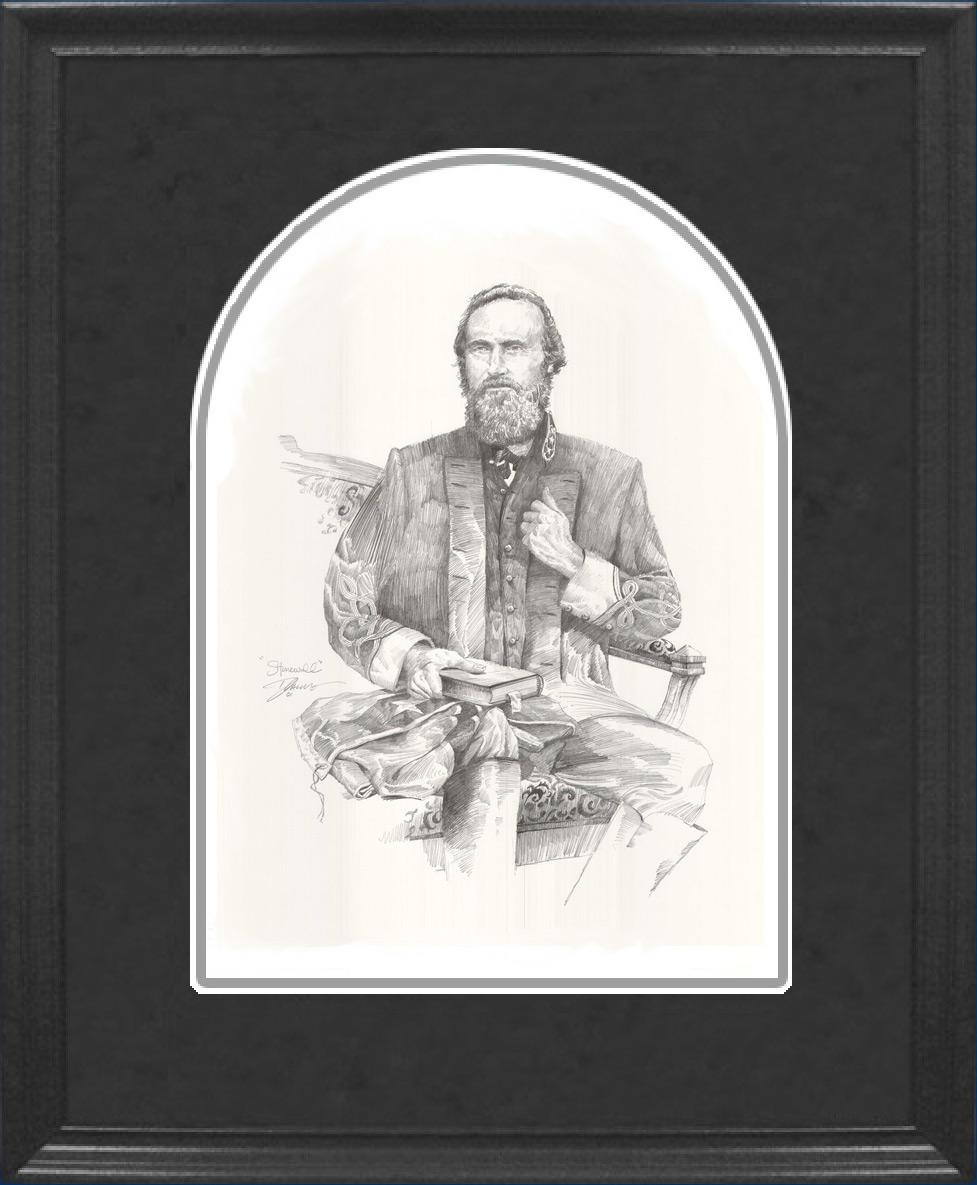 Framed Jackson Pencil Sketch