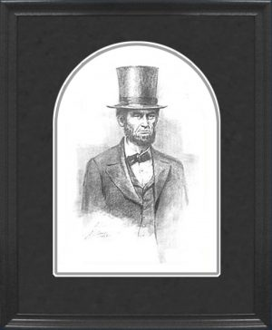 Framed Lincoln Pencil Sketch