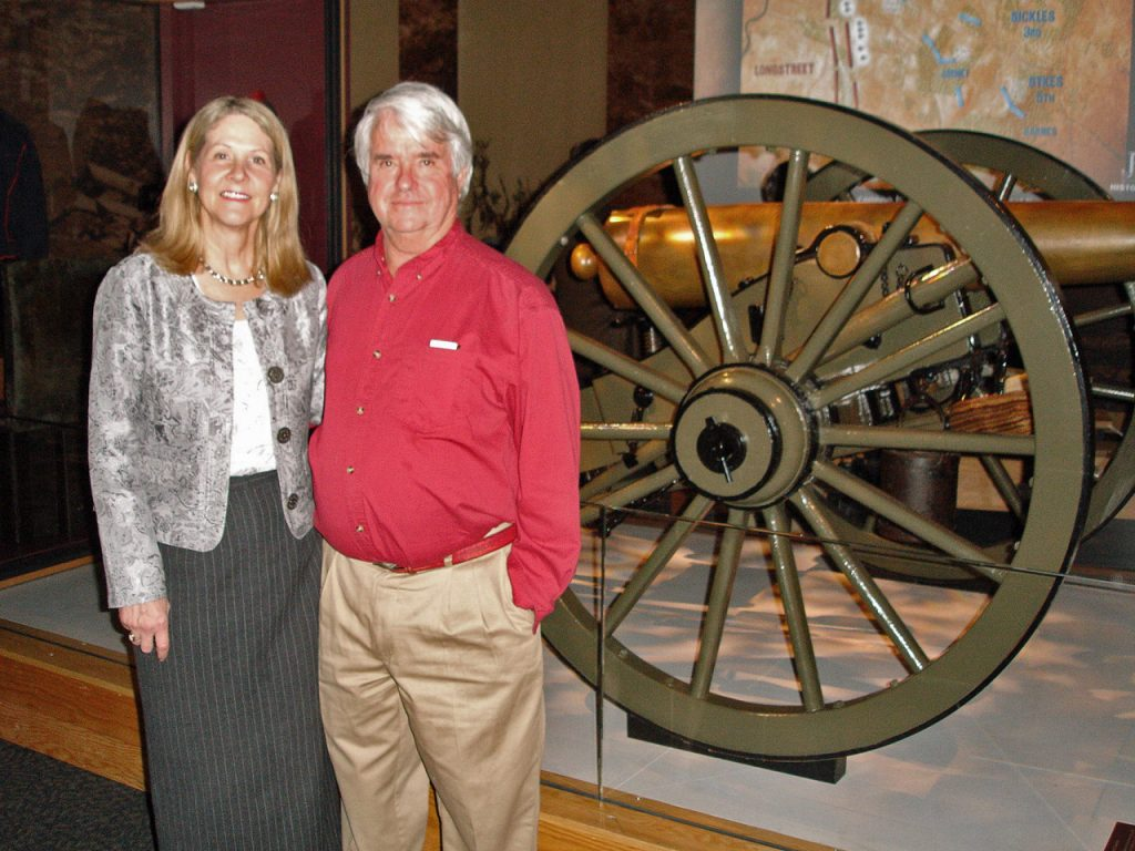 Dale & Anne at the Grand Opening of the new Gettysburg Visitors Center in 2008
